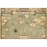 Plakát Fantastická zvířata - Mapa Mundi