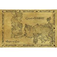 Plakát Game of Thrones - mapa Westerosu a Essosu Antik