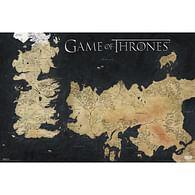 Plakát Game of Thrones - mapa Westerosu a Essosu (velká)