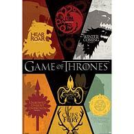 Plakát Game of Thrones - znaky rodů
