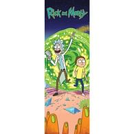 Plakát na dveře Rick and Morty - Portal