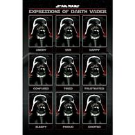 Plakát Star Wars - Expressions of Darth Vader