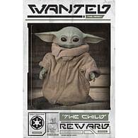 Plakát Star Wars: Mandalorian - Wanted the Child
