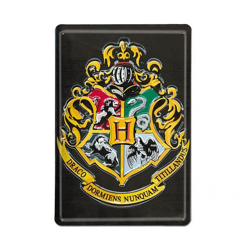 Logoshirt Plechová cedule Harry Potter - Bradavice (A4)
