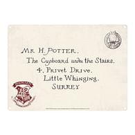 Plechová cedule Harry Potter - Letters