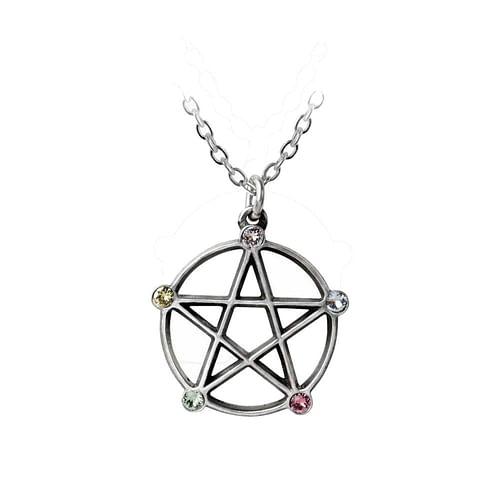Alchemy Gothic Přívěsek pentagram Wicca P786