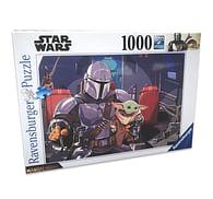 Puzzle Star Wars: Mandalorian a Baby Yoda, 1000 dílků