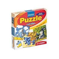 Puzzle - zvířátka 4, 6, 9 a 12 dílků