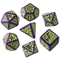 Sada kostek Pathfinder: Goblin Purple & green