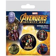 Sada placek Avengers: Infinity War, 5 ks