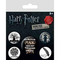 Sada placek Harry Potter - Symbols, 5 ks