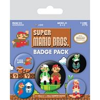 Sada placek Super Mario - Retro