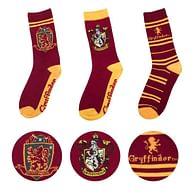 Sada ponožek Harry Potter - Nebelvír (3 ks)
