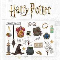 Sada samolepek na zeď Harry Potter, 22 ks