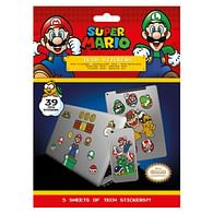 Sada vinylových samolepek Super Mario - Mushroom Kingdom (39 ks)