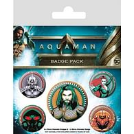 Sada placek Aquaman - Heavy Hitters Of The Seas, 5 ks