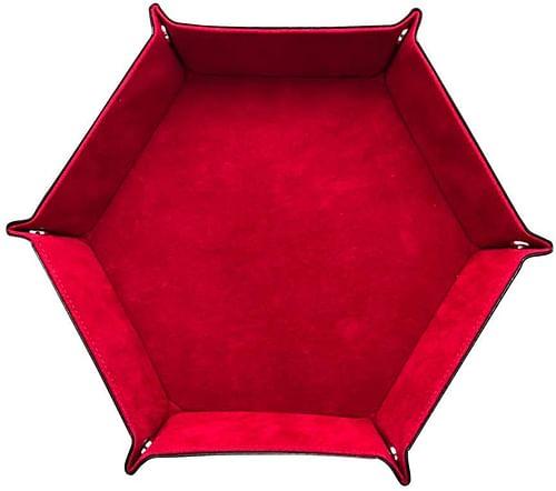 Skládací podložka na házení kostek - šestiúhelníková, barva hnědá