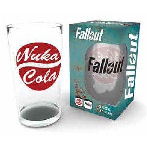 CurePink Sklenice Fallout 4: Nuka Cola 14 cm červená 500 ml