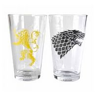 Sklenice Game of Thrones - Stark & Lannister (2 ks)