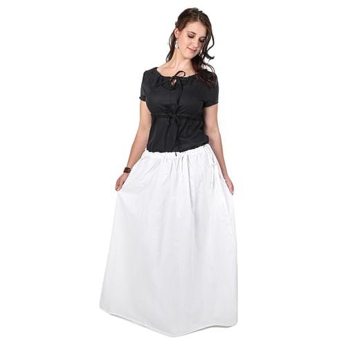 Fantasyobchod Dlouhá sukně s kapsami, bílá, velikost XL
