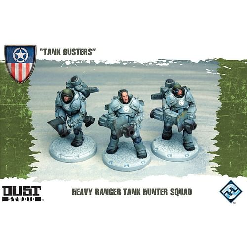 Dust Tactics: Tank Busters - Heavy Ranger Tank Hunter Squad