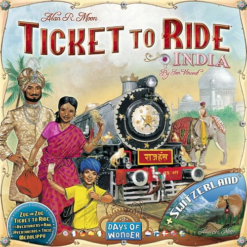 Ticket to Ride Map Collection: Volume 2 - India a Switzerland