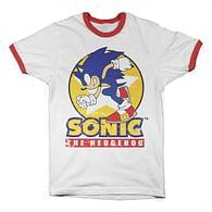 Tričko Sonic The Hedgehog, bílé