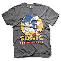 Tričko Sonic The Hedgehog, šedé