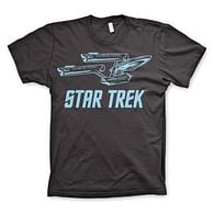 Tričko Star Trek - Enterprise Ship (tmavošedé)