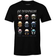 Tričko Star Wars: Mandalorian - Bounty Hunter Helmets