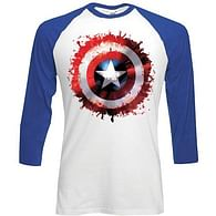 Tričko Captain America - dlouhý rukáv