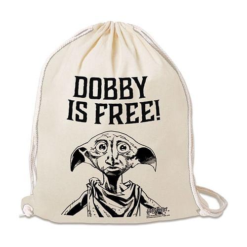 Logoshirt Vak na záda Harry Potter - Dobby is Free, barva béžová