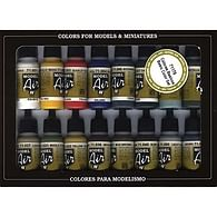 Vallejo: Basic Colors - Acrylic 16 Airbrush Paint Set for Model and Hobby