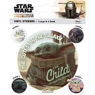 Vinylové samolepky Star Wars: Mandalorian - Baby Yoda