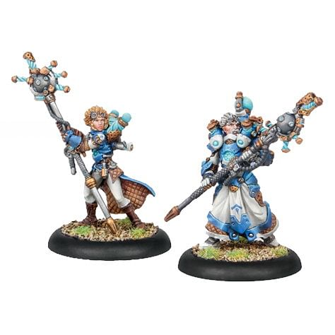 Warmachine: Cygnar - Artificer General Nemo & Storm Chaser Adept