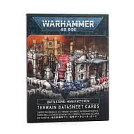 Warhammer 40000: Battlezone - Manufactorum Datasheet Terrain Cards