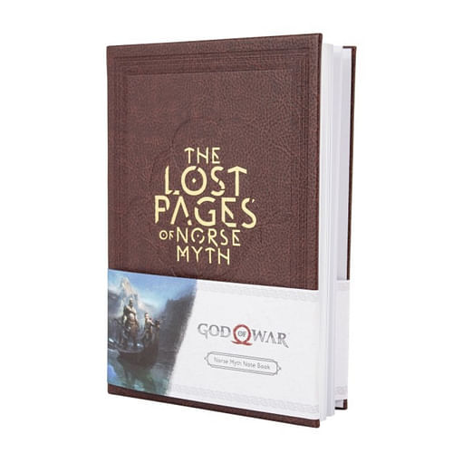 CurePink poznámkový A5 blok God of War: The Lost Pages of Norse Myth 14,8 X 21 cm GE3495