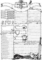 Zapovězené země - deník postavy