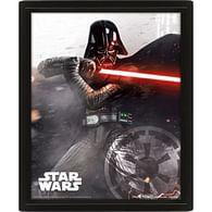 Zarámovaný 3D obraz Star Wars - Vader vs Skywalker